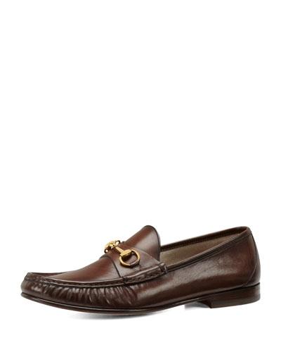 Leather Horsebit Loafer, Cocoa