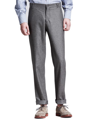 Flannel Six-Pocket Pants, Otter