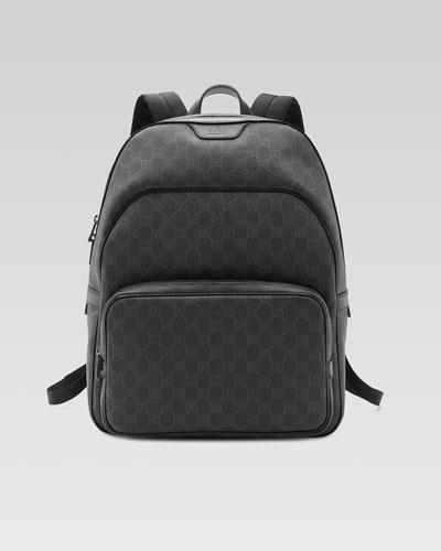 GG Supreme Canvas Backpack, Black