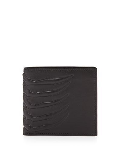 Ribcage-Embossed Bi-Fold Wallet