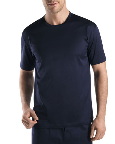 Sporty Crewneck T-Shirt, Midnight Navy