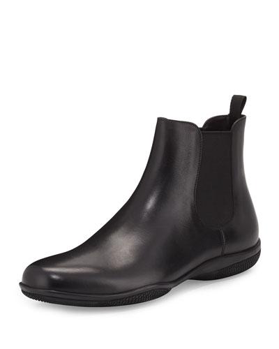 Rubber-Sole Chelsea Boot, Black