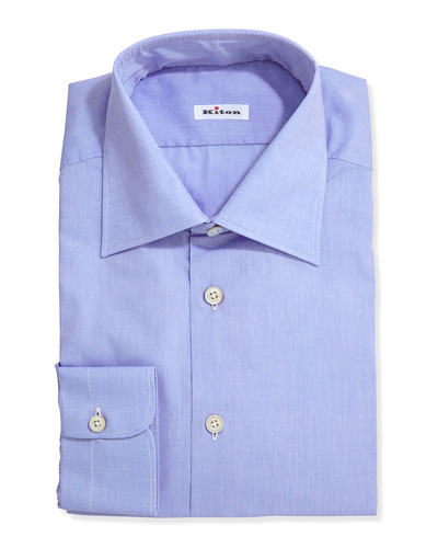 Basic Poplin Dress Shirt, Blue