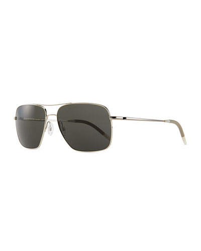 Clifton Polarized Sunglasses, Silver