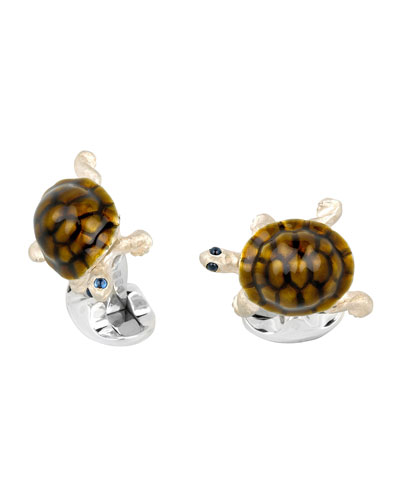 Walking Tortoise Cuff Links
