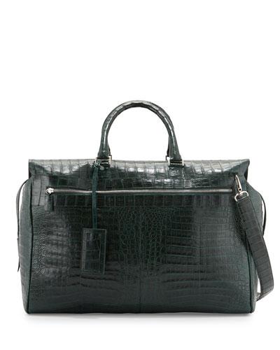 Crocodile Duffel Bag, Green