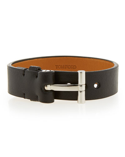 Nashville Men's Leather Bracelet, Black