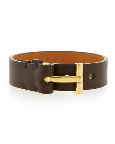 Nashville Men's Leather Bracelet, Brown