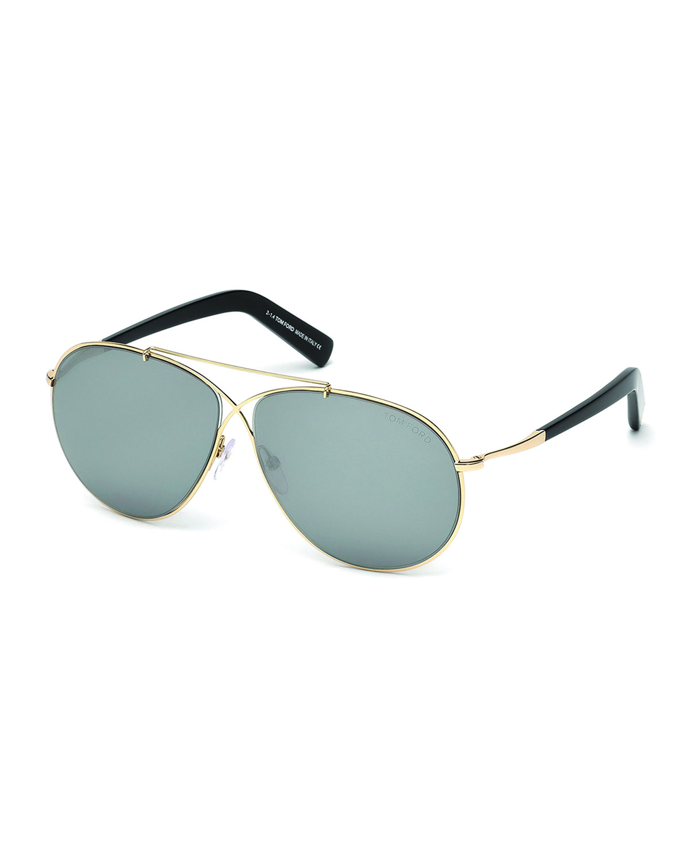 Eva Lightweight Sunglasses, Rose Gold
