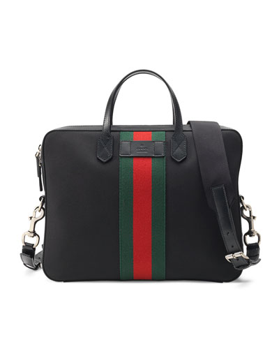 Web Canvas Slim Briefcase, Black