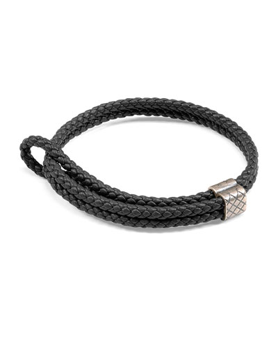 Men's Woven Leather Bracelet