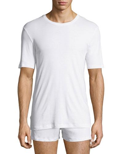 Sea Island Cotton Crewneck T-Shirt, White