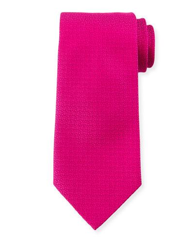 Textured Silk Tie, Pink