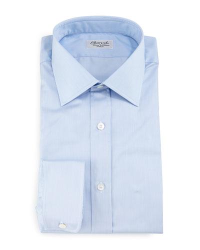 Thin-Striped Dress Shirt, Light Blue
