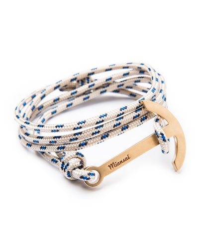 Modern Anchor Rope Bracelet, Khaki
