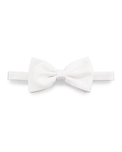 Satin Bow Tie, Off White