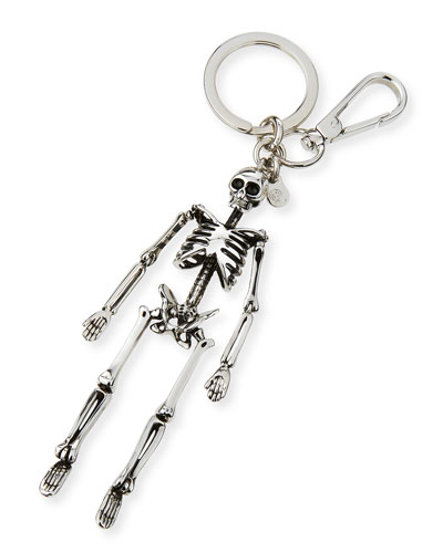 Brass Skeleton Key Ring