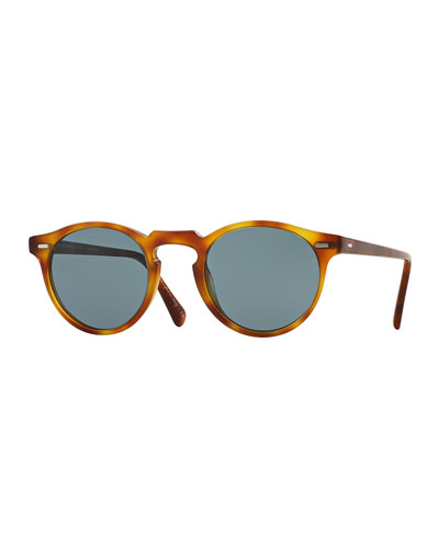 5c9801a661 Gregory Peck Round Plastic Sunglasses