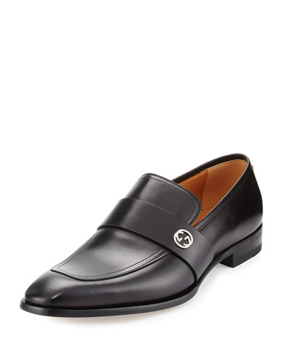 Broadwick Leather Loafer, Black