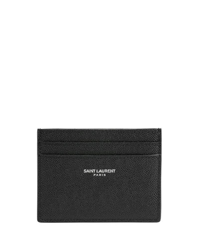 Pebbled Leather Classic Card Case