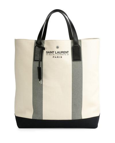 Logo Print Beach Tote Bag, Cream