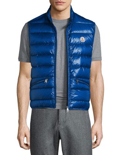Gui Lightweight Quilted Puffer Vest, Blue