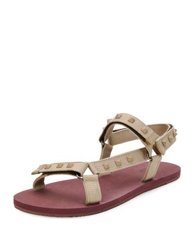 Rockstud Sport Sandal, Tan