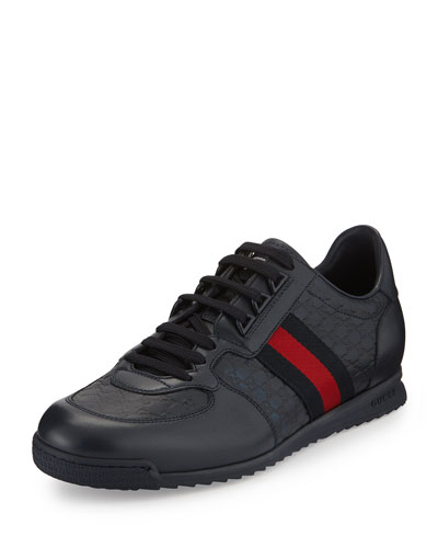 Lace-Up Sneaker with Web Detail