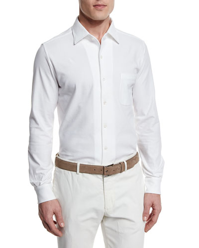 Andre Jersey Sport Shirt, White