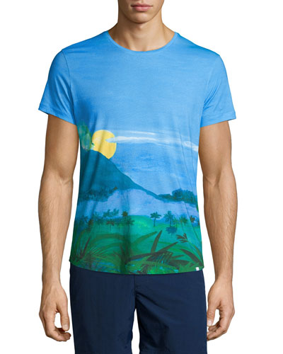 Jungle Vista Digital-Print Short-Sleeve T-Shirt