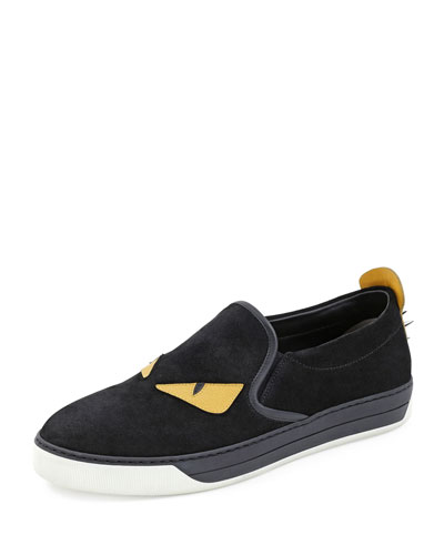 Men's Monster Slip-On Sneakers, Black