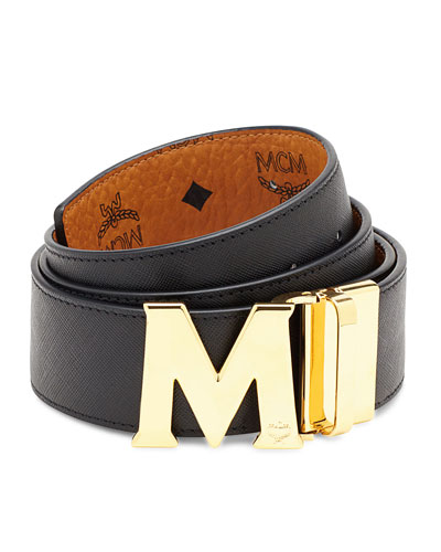 Reversible Visetos Saffiano Leather Belt