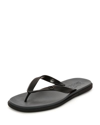 Gancio Flip-Flop Sandal, Black