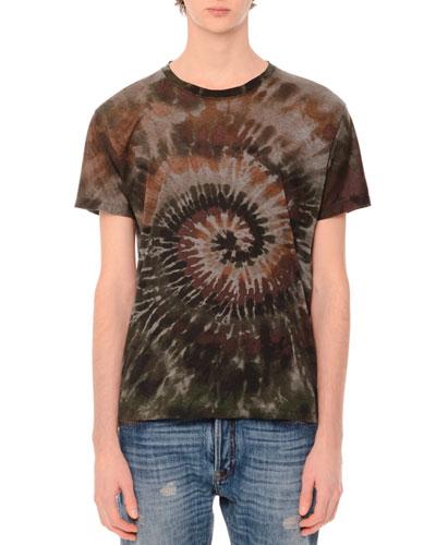 Tie-Dye Short-Sleeve T-Shirt, Tie Dye Army