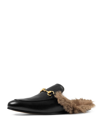 Princetown Fur-lined Leather Slipper