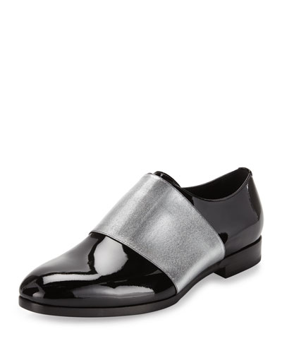 Peter Formal Patent Leather Shoe with Metallic Band, Black