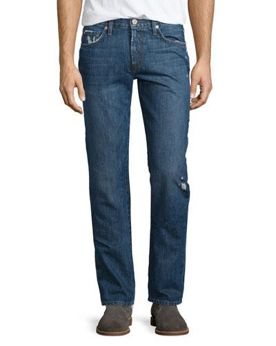 Tyler Destroyed Slim-Fit Denim Jeans, Destructed Gemma