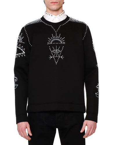 Embellished Tribal Sweatshirt