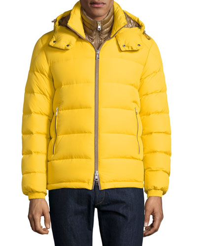 Brique Puffer Jacket W/Removable Liner, Yellow
