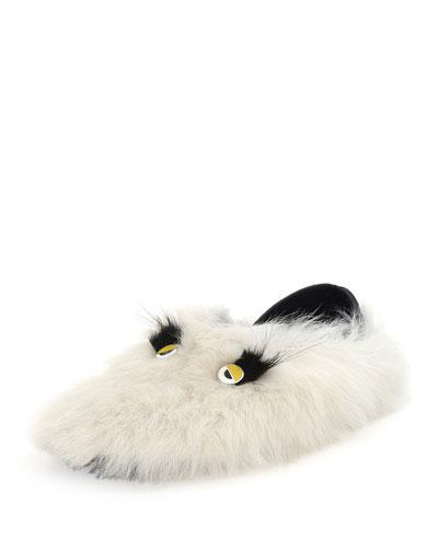 Monster Shearling & Fur Slipper