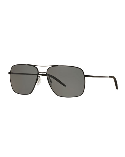 Clifton 58 Polarized Sunglasses, Black