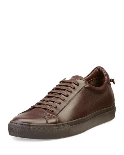 Urban Low-Top Leather Sneaker, Brown