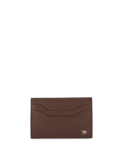 Leather TF Card Case, Chocolate