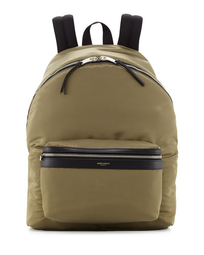 Men's Solid Nylon Backpack