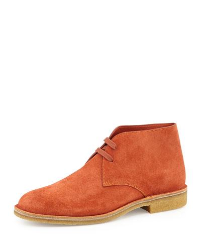 Suede Desert Boot, Orange