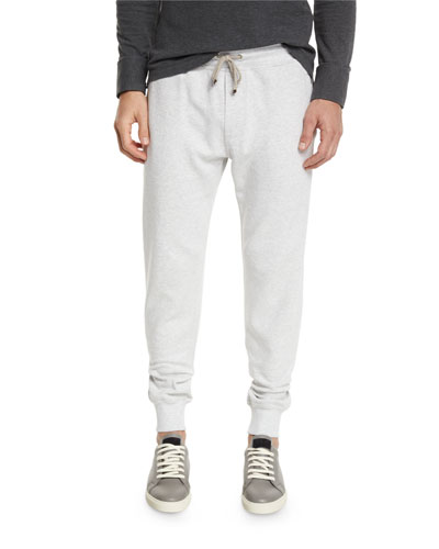Drawstring Knit Spa Sweatpants, Fog