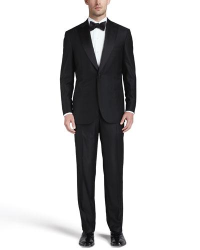 One-Button Peaked-Lapel Tuxedo