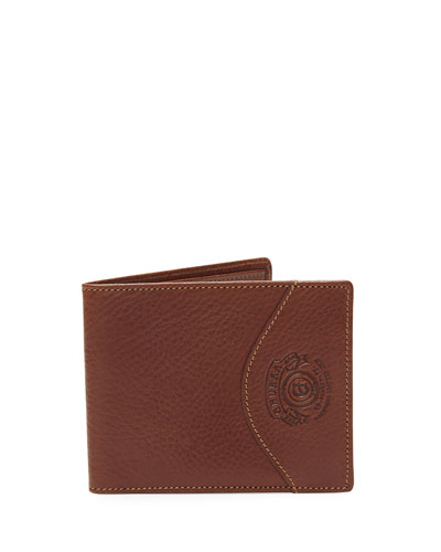 Slim Classic Leather Wallet No. 203, Vintage Chestnut