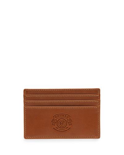Slim Leather Credit Card Case No. 204, Chestnut