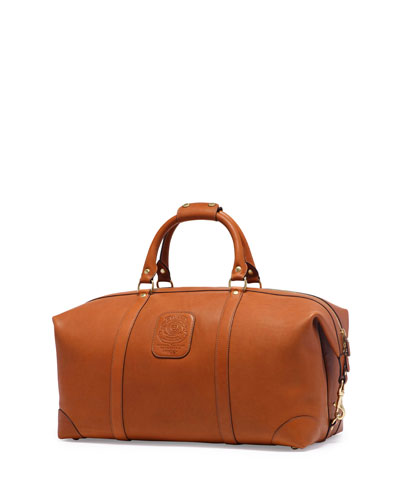 Cavalier III No. 98 Large Leather Duffel Bag, Chestnut